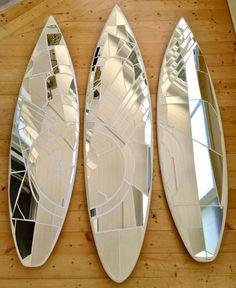Triple Surfboard Mirror Art