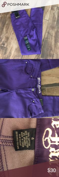 Skinny Jeans Purple Skinny Jeans. TTS, can size down for a tighter fit Blue Faith Jeans Skinny