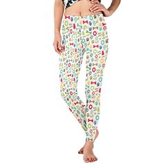 WDYSECRET Dog Themed Pattern Polyester Stretch Tight DIY Yoga Pants -- Want  additional info  60bb7a7a9