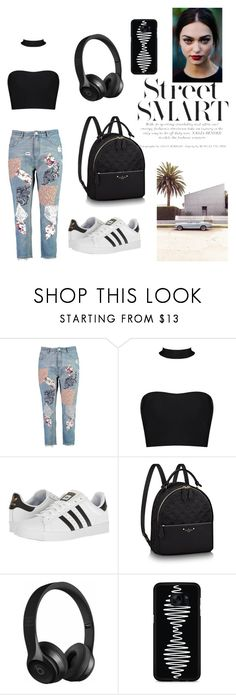 """""""Untitled #271"""" by camila1970 ❤ liked on Polyvore featuring Boohoo, adidas, Beats by Dr. Dre and Samsung"""