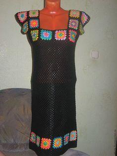 Платье бабушкины квадраты