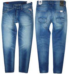 RRP €129 NEW REPLAY Zonman Jeans  W-30 L-32 Carrot Slim