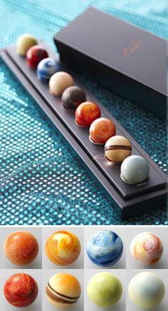 Planets chocolate