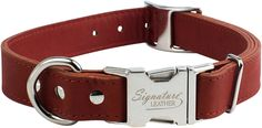 OmniPet 6111-TC Kwik-Klip Signature Leather Adjustable Dog Collar, Terracotta ** You can find more details by visiting the image link. (This is an Amazon affiliate link)