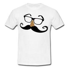 Eine Brille mit einer großen Nase und noch größeren Schnurrbart alias Moustache.