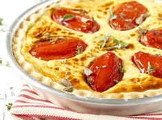 Sýrový quiche s rajčaty Ricotta, Pepperoni, Brie, Feta, Food And Drink, Pizza, Cooking, Desserts, Tarte Tatin