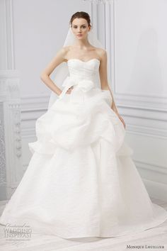 Lovely wedding dresses from Monique Lhuillier Spring 2013 bridal collection