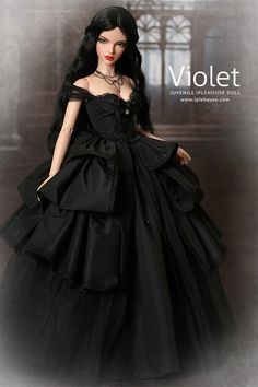 Violet by Iplehouse Pretty Dolls, Cute Dolls, Beautiful Dolls, Barbie Dress, Barbie Clothes, Enchanted Doll, Gothic Dolls, Barbie Collection, Barbie Friends