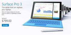 Microsoft, Surface Pro 3, tablet vs Ipad Air