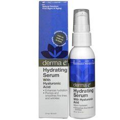 Derma E, Гидрирующая сыворотка с гиалуроновой кислотой, 2 жидких унции (60 мл)