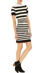 Stripe Knit Collection Dress