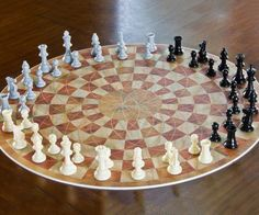 Chess just got even more strategic - the three player chess game expands on the classic game of chess while adding new elements such as alliances between two weaker players to attack the commanding player, or planning your moves against two different attacks.