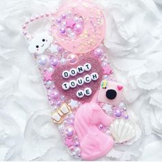 Dont Touch Me Unicorn Pink & White Decoden Phone Case - Can be made for any device , Decoden Phone Case, Kawaii Phone Case, Diy Phone Case, Cute Phone Cases, Iphone Cases, Ipod, Coque Smartphone, Hello Kitty My Melody, Kawaii Crafts