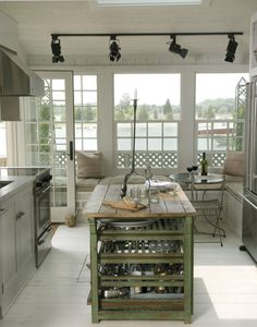 Beach cottage kitchen