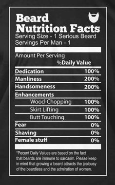 Beard Nutrition Facts From Beardoholic.com