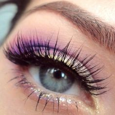 hints of purple and sparkle.
