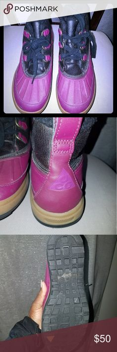 Purple ACG Winter boots Lightly used ACG boots great for the winter days. ACG Shoes Winter & Rain Boots