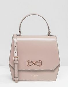 Image 1 of Ted Baker Leather Cross Body Bag With Geometric Bow