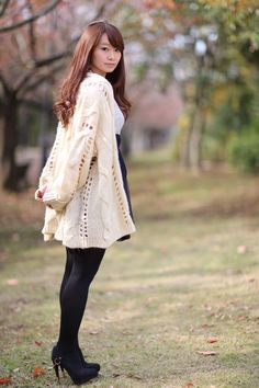 Stocking Tights, Tights Outfit, Cute Asian Girls, Beautiful Asian Women, Asian Woman, Asian Beauty, Bell Sleeve Top, Womens Fashion, Outfits