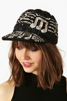 Like, share, repin :D   Enjoy    Don't Stop The Music Sequin Cap