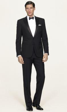 Notch Lapel Tuxedo w/ bowtie, studs & pocket square