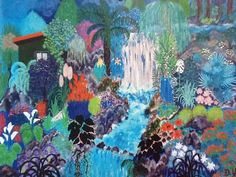 """MY GARDEN "" canvas painting by Blue Angel"
