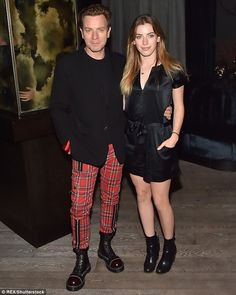 ~ Ewan McGregor in red tartan ~ Clara - the eldest of Ewan and French production designer wife Eve's four daughters; twins Esther and Jamyan, 14, and Anouk, four - who well and truly stole the show