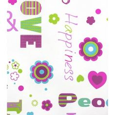 Tapete Rasch Kids' Club 2014 478419 Love Peace Happiness pink - BilligerLuxus.de