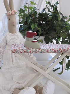 Maileg bride rabbit and maileg ironing board