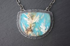 Graveyard Point Plume Agate Sterling Silver by ZenergyJewelry