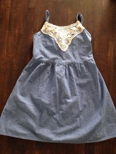 Check out this listing on Kidizen: Vguc Chambray/lace Dress via @kidizen #shopkidizen