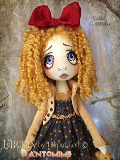 Urchin art doll - Pantomimt. 'Goldie' by Vicki @ Lilliput Loft