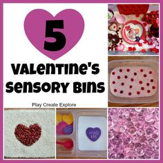 Play Create Explore: 5 Valentine's Sensory Bins