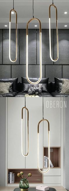 Oberon - Long Hanging U Light OBERON - Modern hanging lamps that will rejuvenate any space. Luxury Lighting, Lighting Design, Hanging Lights, Hanging Lamps, House Lamp, Room Lamp, Bed Room, Stained Glass Designs, Modern Pendant Light
