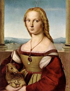 """""""Young Women with Unicorn"""" by Raphael (1506)  Kate style beginning?"""