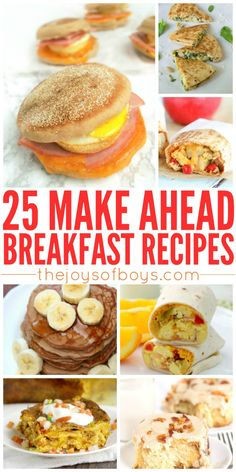 I love this idea! These make-ahead breakfast recipes would make my morning rush go so much smoother!