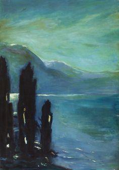 """""""Gewitterstimmung am Gardasee"""" [Thunderstorm on Lake Garda] by Lesser Ury, 1890s"""