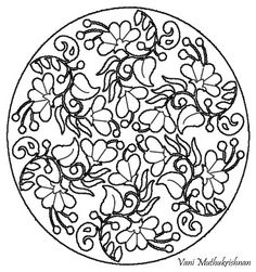 My Kolam: Floral round about!