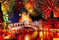 """Puzzle EDUCA """"Fiesta en el puente Rialto"""", 1.500 piezas."""
