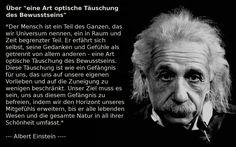 """Albert Einstein: Über """"eine Art optische Täuschung des Bewusstseins"""""""