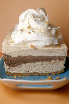 Peanut Butter + Chocolate + Cool Whip = A little slice of heaven. Sweet goodness