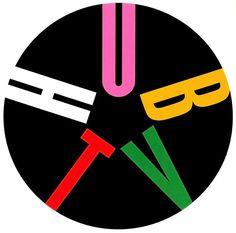 Hub TV logo designed by Paul Rand. Identity Art, Identity Design, Visual Identity, Logo Design, Brand Identity, Layout Design, Paul Rand Logos, Rand Paul, Graphic Design Art