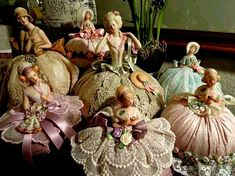 """Lovely heart things: """"I invite you to the prom ... or vintage dolls needle bed"""""""