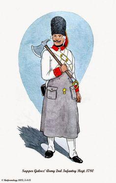 Spanish; Galvez' Army, Sapper 2nd Infantry Regt. 1780 Medieval, Osprey Publishing, Empire, American War, American Revolution, Military History, Warfare, Troops, 18th Century