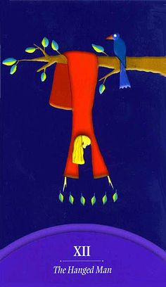 The Hanged Man - Lars-Kristian Holmsen Tarot by Lars-Kristian Holmsen, Vaida Gasiunaite Tattoo Prague, Sacred Art Tattoo, The Hanged Man, Oracle Tarot, Major Arcana, Tarot Decks, Tarot Cards, The Magicians, Whimsical