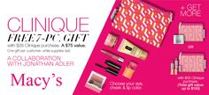 Free Clinique gift at Macy's when you spend $28 or more at Clinique. http://cliniquebonus.org/clinique-bonus-time/