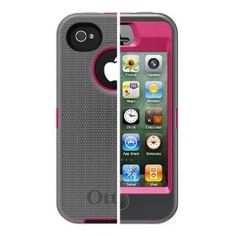 Otterbox Defender iPhone case.  This is a girly pink case, I have a BLUE one.  I dropped my phone many times and never had a problem.  $31.72