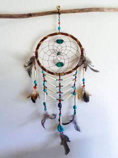 Dream Warrior Dream Catcher - Turquoise Stone and Bone Ladder | Urban Gypsy Designs