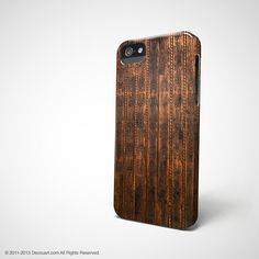 Wood iPhone 5 case iPhone 5s case iPhone 4s case case by Decouart, $23.99
