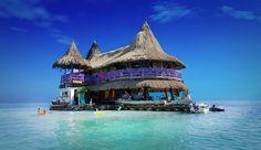 Casa en el agua hostel in the San Bernardo Islands, Colombia Costa, Floating Hotel, San Bernardo, Beste Hotels, Mangrove Forest, Colombia Travel, Caribbean Sea, New Travel, Jungles